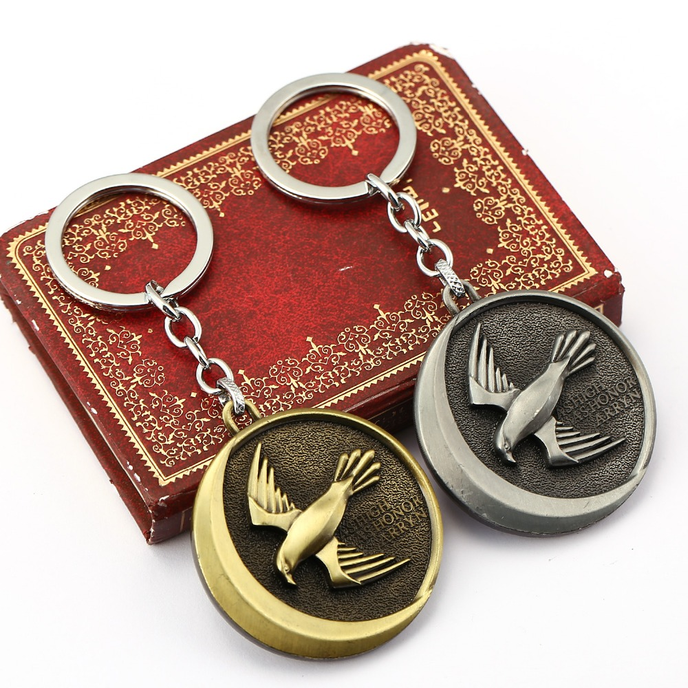 10pcs/lot Game of thrones Car Keychain llaveros House Ayrrn Alloy Pendant Toy Keyring bird Key Chain Ring as High as Honor