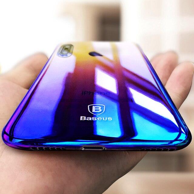 coque iphone x blue