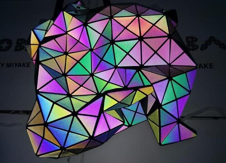 New Fashion Women's Brand baobao bag Messenger Bag Hologram Laser Shoulder Bag luminous logo bag Free Shipping 8*8 bolsa