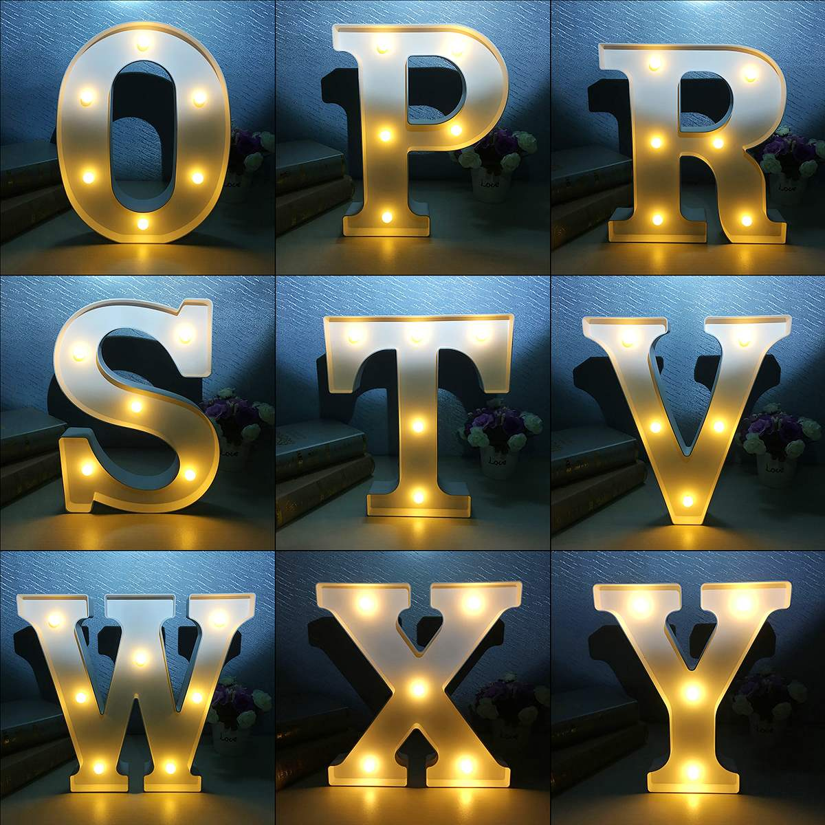 Best Price 12 Inch LED Night Light Lamp For Bedroom Christmas Marquee Letter Alphabet Light Vintage Circus Style Light Up цена