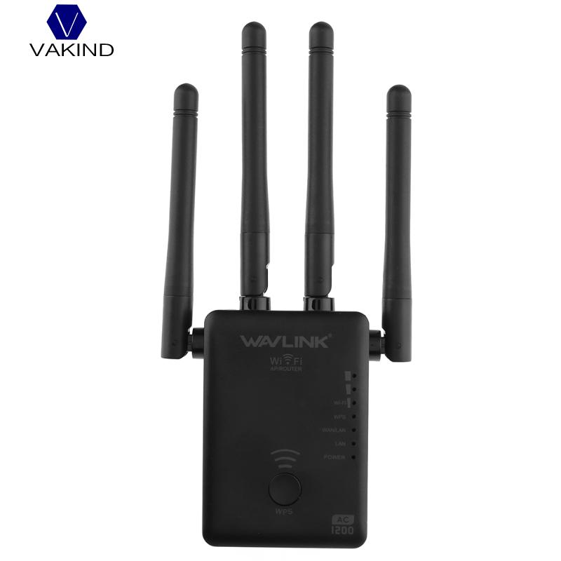 1200Mbps Wireless Router Repeater 2 4G And 5G Dual Band Wifi Repeater Amplifier Extender With 4
