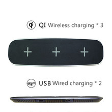 3 QI Wireless Charger Wireless Charging Ports for iPhone X 8 8 Plus Other Devices Provides Fast Charging for Galaxy S8/ S8+
