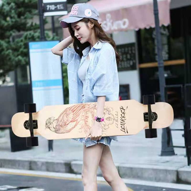 Planches à roulettes complètes Longboard adulte planche à roulettes garçons et filles Street dance planche à roulettes longue planche à roulettes