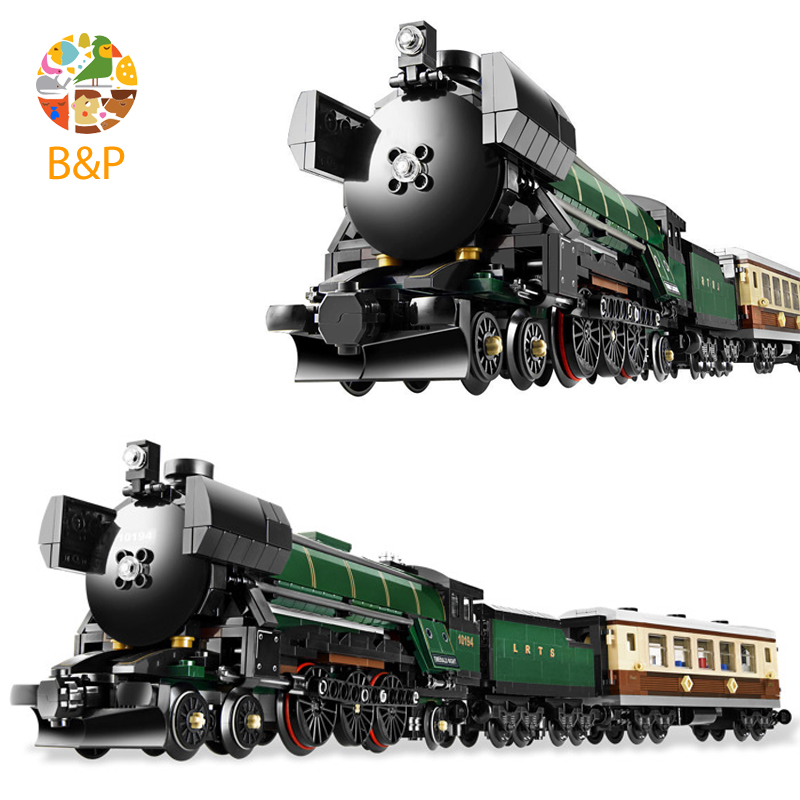 lepin Legoing 10248 1158Pcs Technic Series The Emerald Night Train Building Blocks Brick Educational Toys For Children 21005