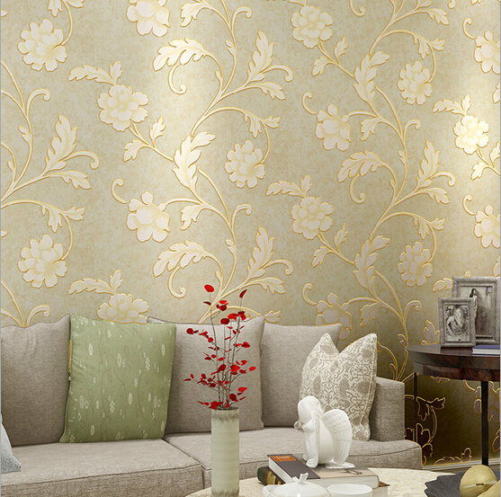Pastoral Romantic Big Flower Wedding House Decor Wallpaper 3D Non-woven Stereo Floral Wallpapers Retro Mural Wall Paper QZ0030 1 06m deep embossed vinyl coated wallpapers floral grass flower wall paper mural for project high quality bedroom home decor
