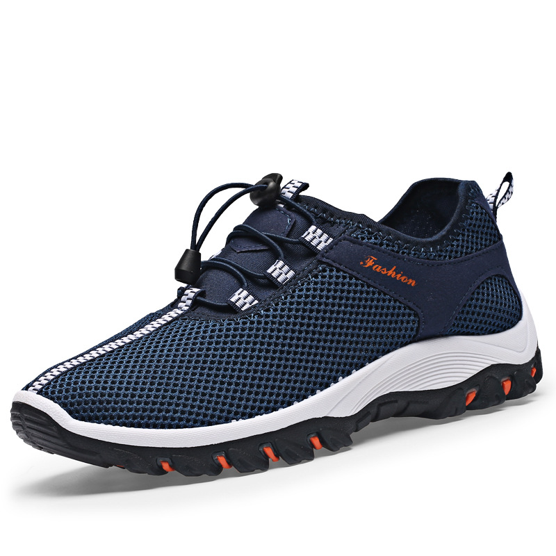 New 2018 Summer Outdoor Casual Shoes Breathable Mesh Shoes for Men Sneakers  Fashion Footwear Comfortable Flat Walking Shoes 2A-in Men's Casual Shoes  from ...