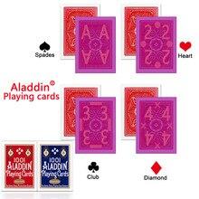 Аладдин карты Невидимый меченые карты для перспективные очки красный/синий покер анти-Чит Невидимый Бельгии Пластик Волшебный покер