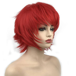 Image 5 - StrongBeauty Halloween Wig Blue Assassination Classroom Akabane Karma Cosplay Wigs Red Synthetic Hair