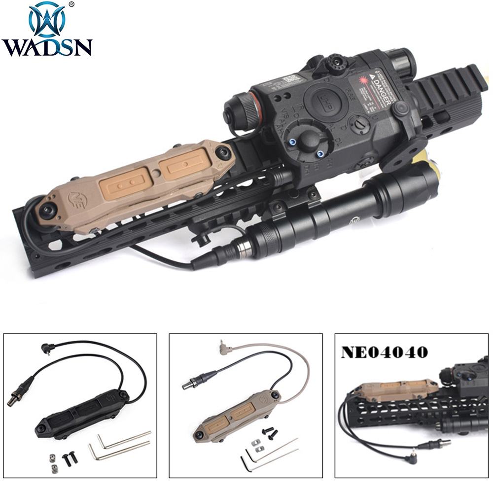 WADSN Double-Switch-Button PEQ-15 Airsoft An Peq DBAL Tactical Augmented for 2