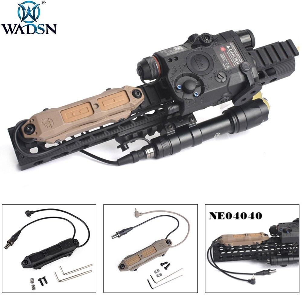 Softair WADSN Tactical Botão Interruptor Duplo Interruptor de Pressão Aumentada Para PEQ-15 PEQ-16A uma peq Airsoft DBAL 2 Luz Arma
