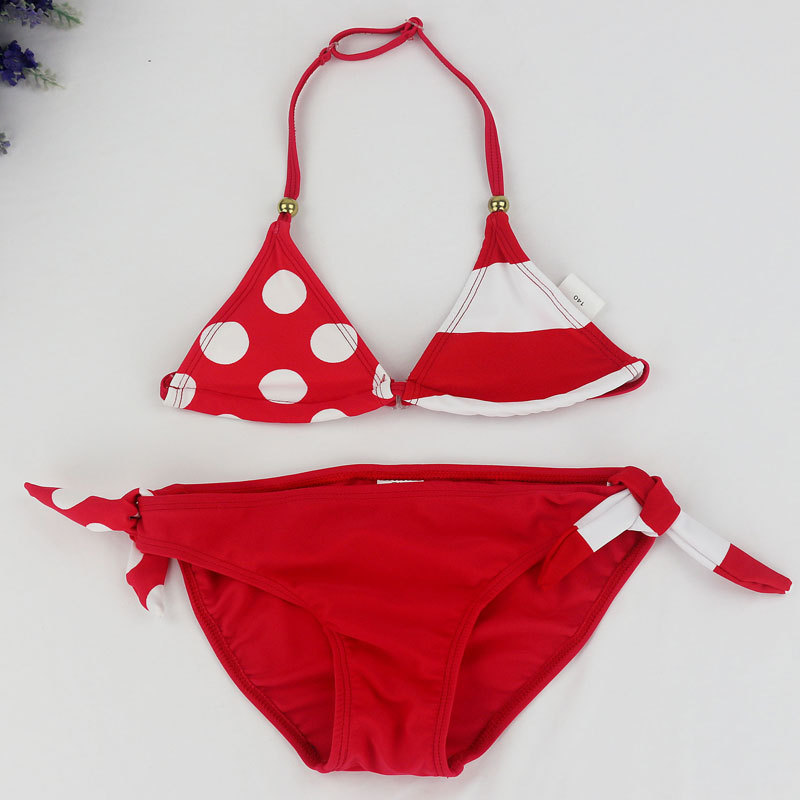 9d5cdb5633 Teenage Girls Swimwear Baby Kids Cute Bikini Girls Split Two Pieces  Swimsuit Bathing Suit Beachwear Kids Biquini Infantil