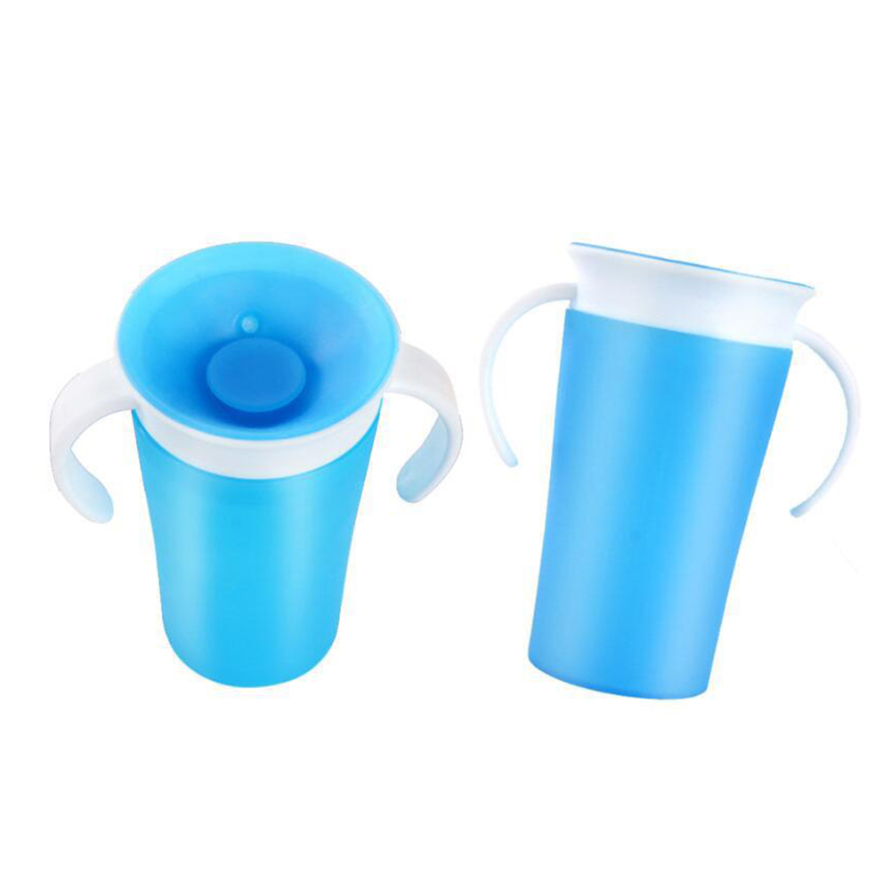 Cup Solid Training Soft Toddler Drinking Water Silicone Smooth Anti Spill With Handle Easy Clean Portable Learning 360 Degree