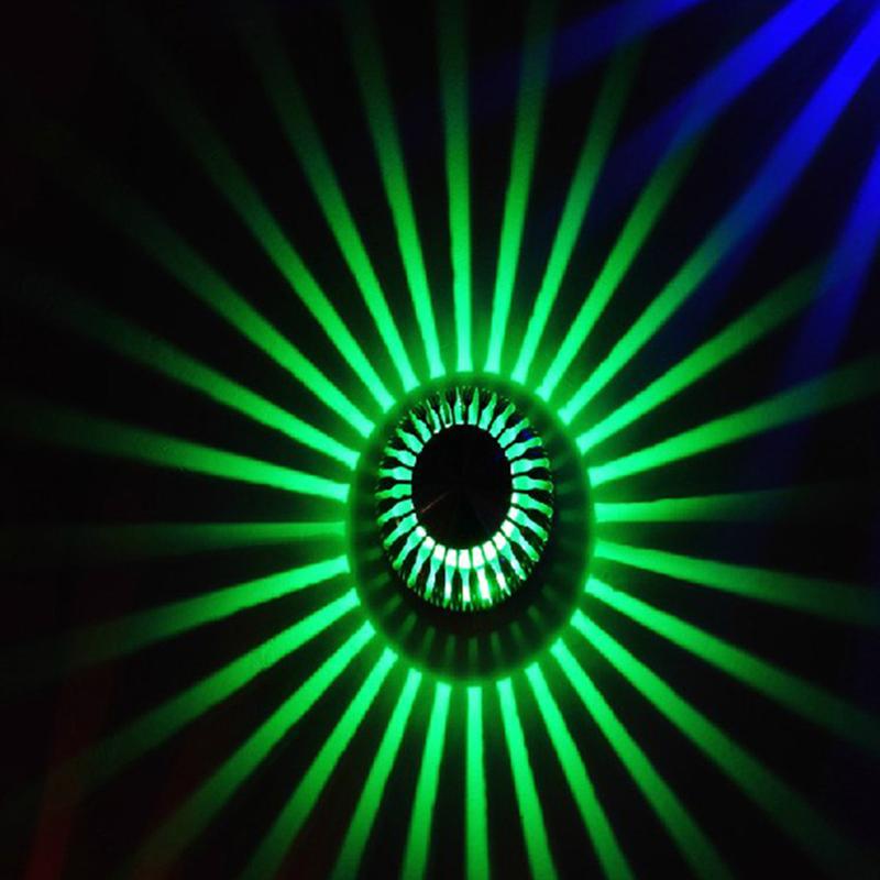 LED 3W Porch Decor Aluminum Sunflower Lamp for Home Indoor Wall Living Room Bedroom Lighting Flush Wall Light