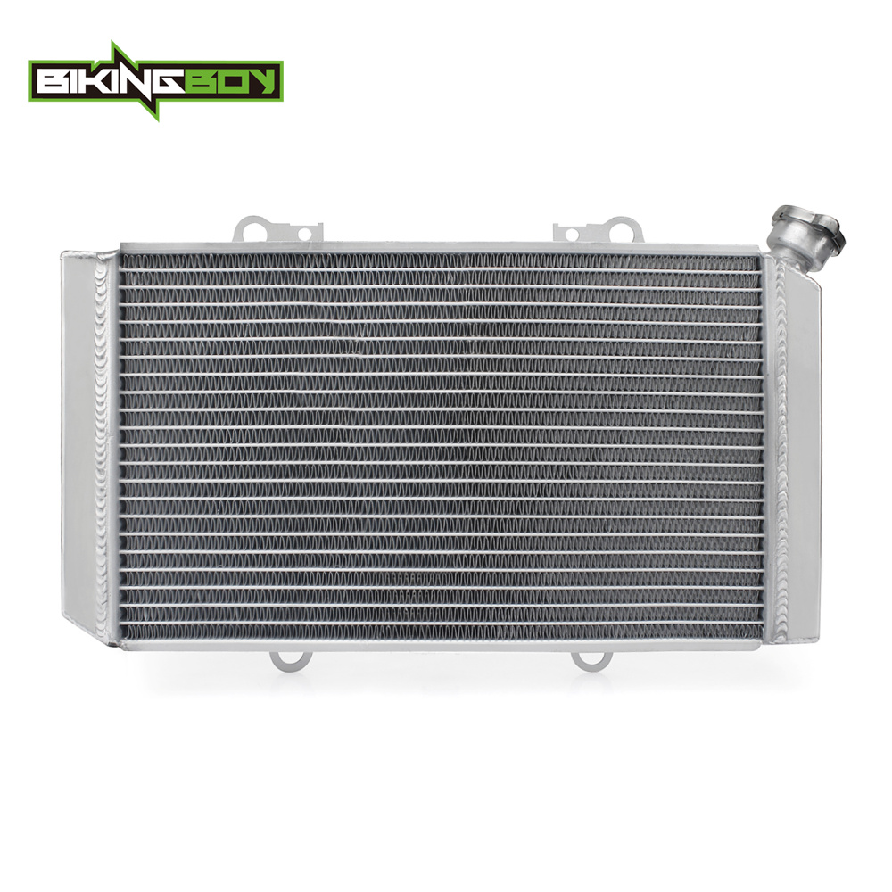 BIKINGBOY Aluminium Core ATV Quad Engine Radiator Cooler Water Cooling for YAMAHA Grizzly 660 Grizzly660 02-08 2003 04 05 06 07 6162 63 1015 sa6d170e 6d170 engine water pump for komatsu