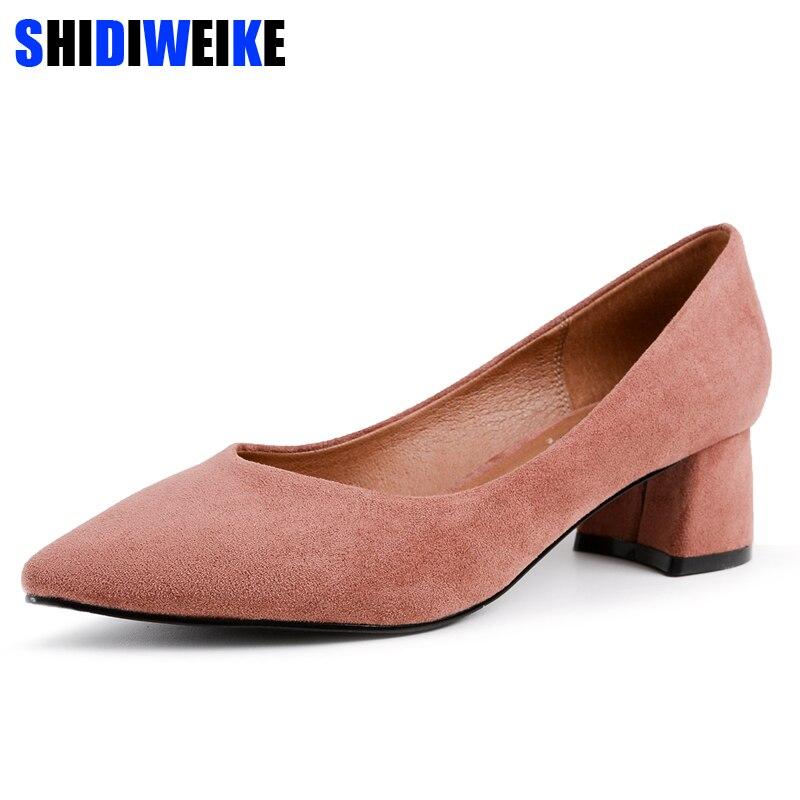 9f5a1eec caqui Negro rosado Moda Para Estrecha Mujeres verde Calzado Zapatos Oficina  Punta Ol Cuero Mostrar Thin ...