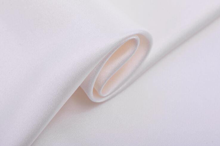 Howmay 100% soie pure charmeuse satin tissu 30 m/m 40 m/m 114 cm 140 cm blanc particulièrement lourd pour robe ou cheongsam