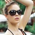 Óculos De Sol De marca mulheres óculos De Sol óculos De Sol Mujer 9528 Oval Floral gradiente lente De óculos ao ar livre