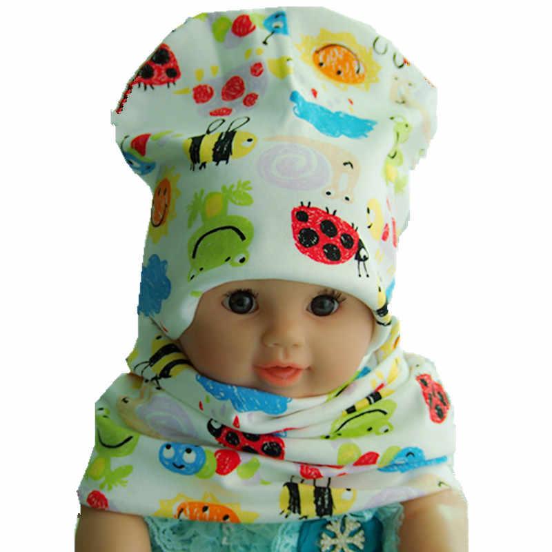 dc0378221b3 ... New Fashion Children Hat Scarf Autumn Winter Crochet Baby Hats Girls  Boys Cap Beanies Cotton Kids ...