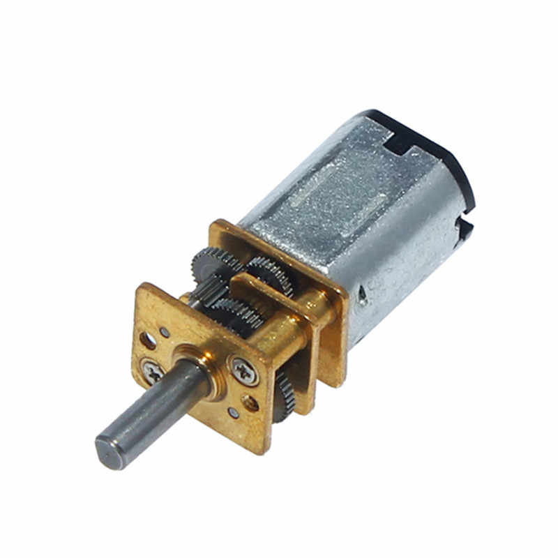 DC 12V 600RPM Micro Speed Reduction Gear Motor Metal Gearbox Wheel Shaft