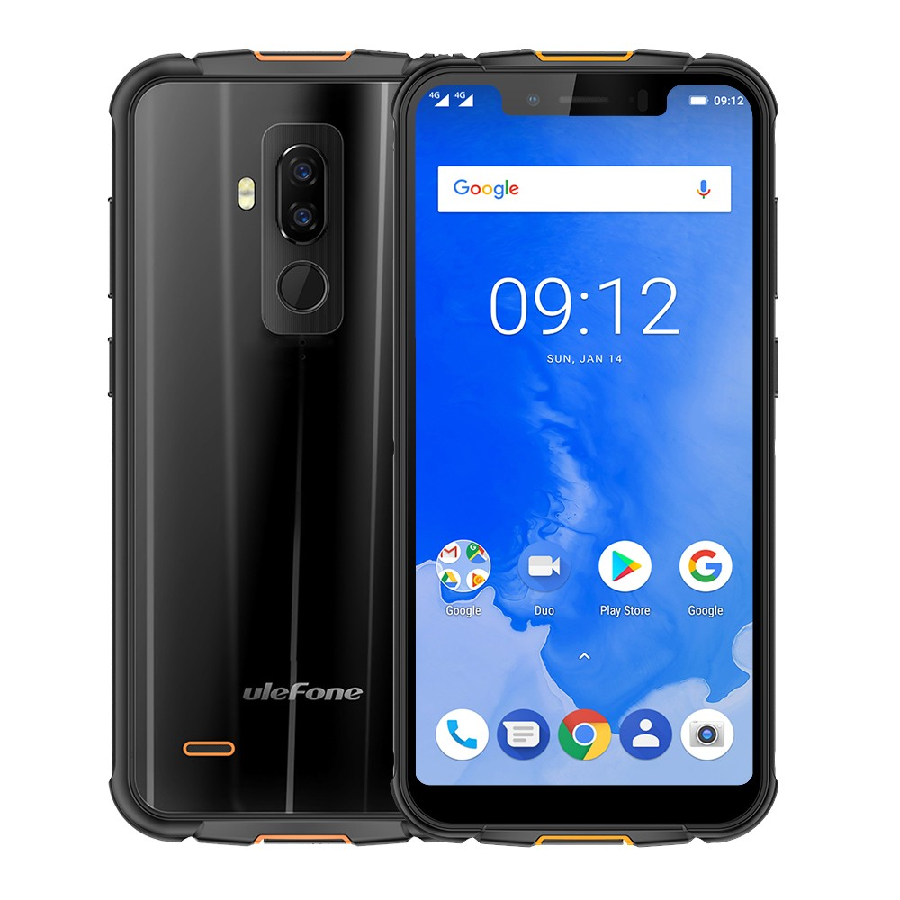 """Ulefone Armor 5 IP68 Waterproof Mobile Phone Android 8.1 5.85"""" HD+ Octa Core 4GB+64GB NFC Face ID Wireless Charge 4G Smartphone"""