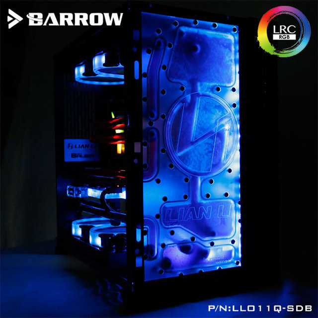 Barrow LLO11Q-SDBV1, Front Waterway Boards For Lian Li PC-O11 Dynamic Case, For Intel CPU Water Block & Single GPU Building