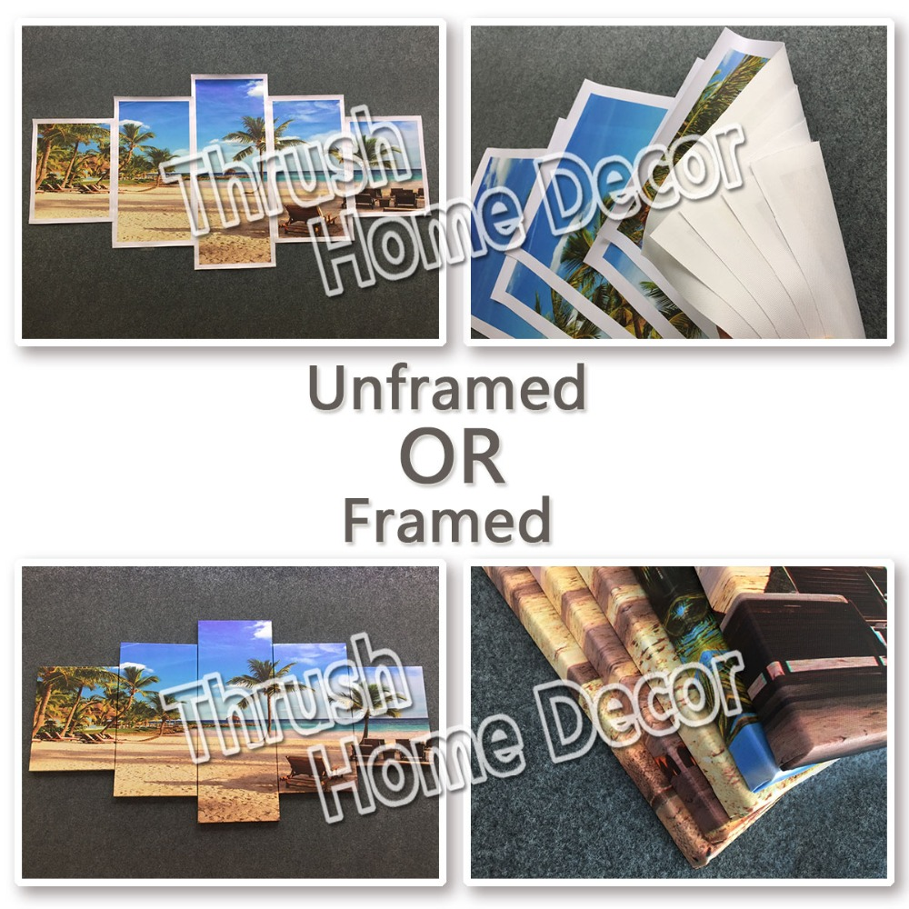 New 5 Pieces/sets Canvas Art Canvas Paintings Poker Flame Living ...