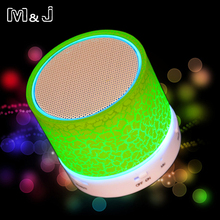 M&J A9 Portable Mini LED Bluetooth Speakers Wireless Small Music Audio TF USB FM Light Stereo Sound Speaker For Phone With Mic