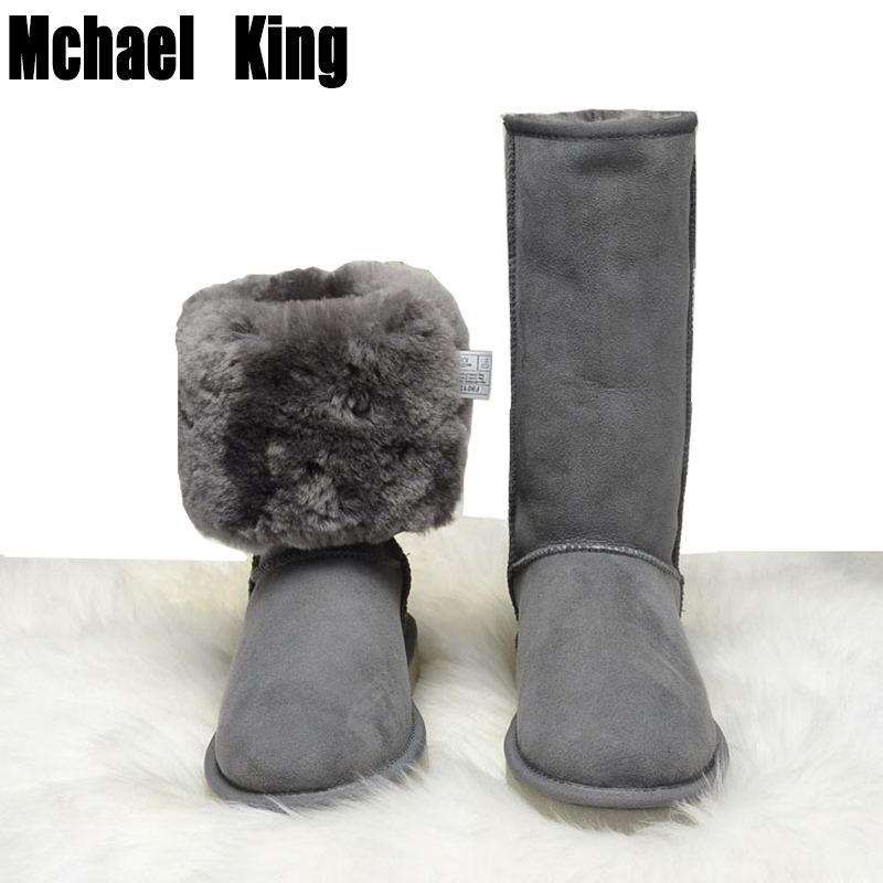 Genuine leather natural Fur 100 wool Snow boots women Top High quality Australia Boots Winter Boots