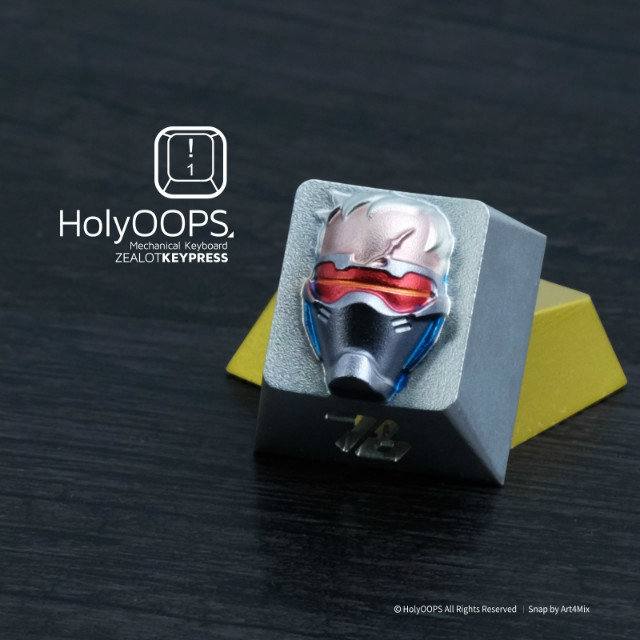 1pc HolyOOPS 3D edition Mechanical keyboard Aluminium Alloy Full Metal key cap for Overwatch Soldiers 76 overwatch origins edition [xbox one]