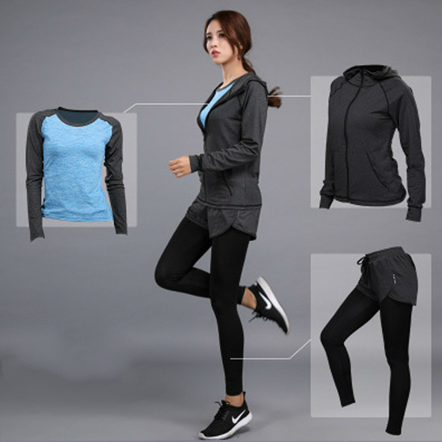 dfc871d3fac Toppick Gym Fitness Clothes Women Yoga Set Tennis Tshirt+Pants Running  Tight Jogging Workout Yoga Leggings Sport Suit Plus Size-in Yoga Sets from  Sports ...