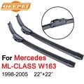 Qeepei para mercedes ml w163 1998-2005 22 ''+ 22'' de goma del parabrisas limpiaparabrisas de automóviles accesorios para automóviles limpiaparabrisas, CPU105
