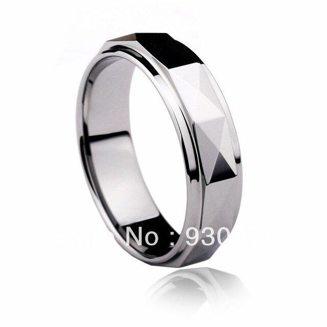 Kostenloser Versand Und Kostenlose Gravur Wolfram Ring Punk Ring