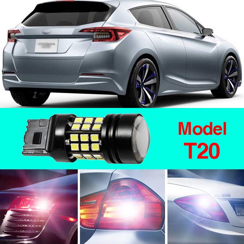 Ownsun Error Free T20 Socket 360 Degrees Projector Lens LED Backup Reverse light R5 Chips Replacement Bulb For Subaru Impreza ruiandsion 2x75w 900lm 15smd xbd chips red error free 1156 ba15s p21w led backup revers light canbus 12 24vdc