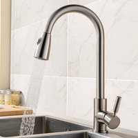 Brass Pull Out Spray Kitchen Faucet Brushed Nickel Pull Down Dual Function Spout Sprayer Kitchen Sink