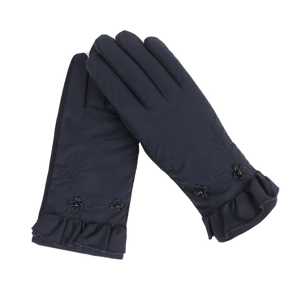 Fein Mode Elegante Frauen Touchscreen Handschuhe Spitze Warme Cashmere Volle Finger Handschuhe Handgelenk Guantes Winter Skifahren Handschuhe O10 Oc6 üBerlegene Leistung Sport & Unterhaltung