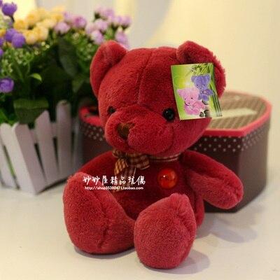 Stuffed animal 25 cm red teddy bear plush toy soft doll gift w1757