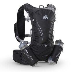 AONIJIE 15L bolsa grande para correr con 2 uds. Botellas de 600ml para exterior, mochila reflectante para senderismo y ciclismo, paquete de chaleco de hidratación