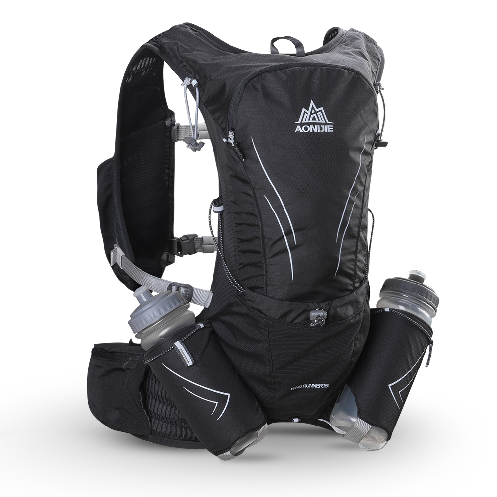 AONIJIE  Hydration Backpack Lightweight Rucksack Bag C929 With 2Pcs 600ml Bottles  For Hiking Camping Running Marathon Race Spor