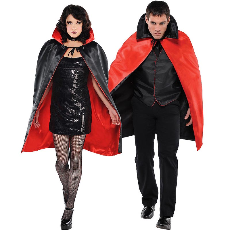 Adult Costume Plain Superhero Capes Vampire Cosplay Halloween Costumes for Women