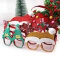 600 шт рождественские украшения для домашнего декора новогодние очки для детей Санта Клаус Олень снеговик рождественские украшения случайн...