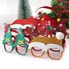 600 pièces décorations de noël pour la décoration de la maison nouvel an lunettes pour enfants père noël cerf bonhomme de neige ornements de noël aléatoire