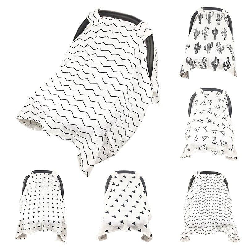 Baby Stroller Accessories Muslin Blanket Car Seat Cover Sunshiled Sunshade Safety Basket Cart Cradle Cap Visor Sun Canopy