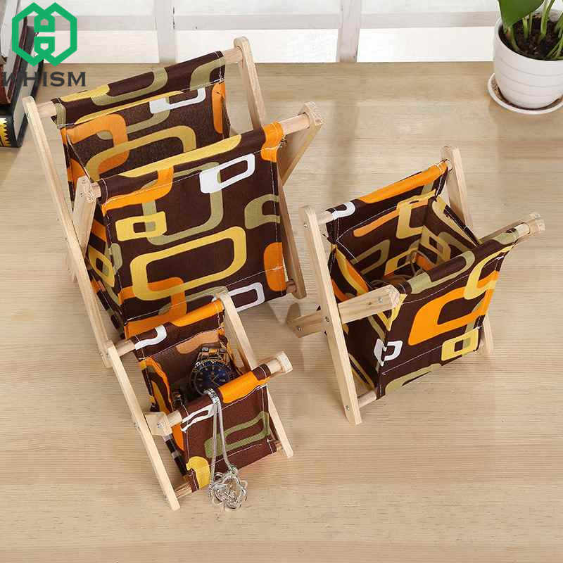 WHISM plegable de madera de tela estante multifuncional de almacenamiento organizador cosmético de la joyería de baño cesta de lavandería estantes para habitación