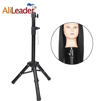 Alileader Best Quality Wig Tripod Stand Salon Mannequin Head Wig Stand Tripod 125 Cm High Wig Stand Tripod For Mannequin Head