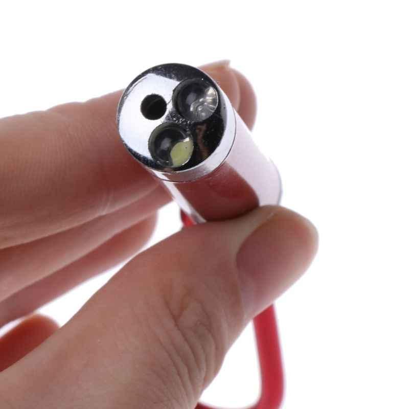 3 ב 1 נייד Kaychain LED פנס מיני לייזר עט מזויף UV אור