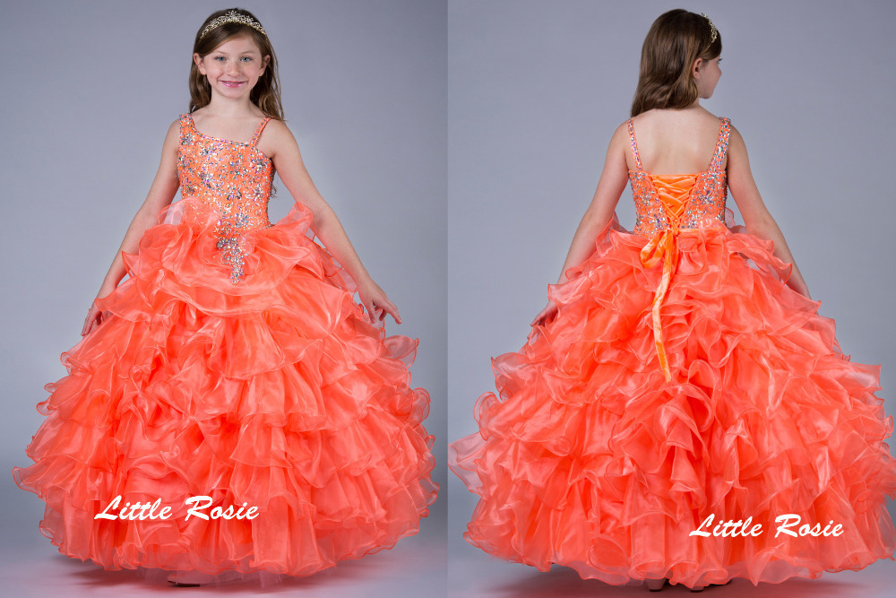 Little Rosie Kids Girls Pageant Party Ball Gown Custom Made Dresses ...
