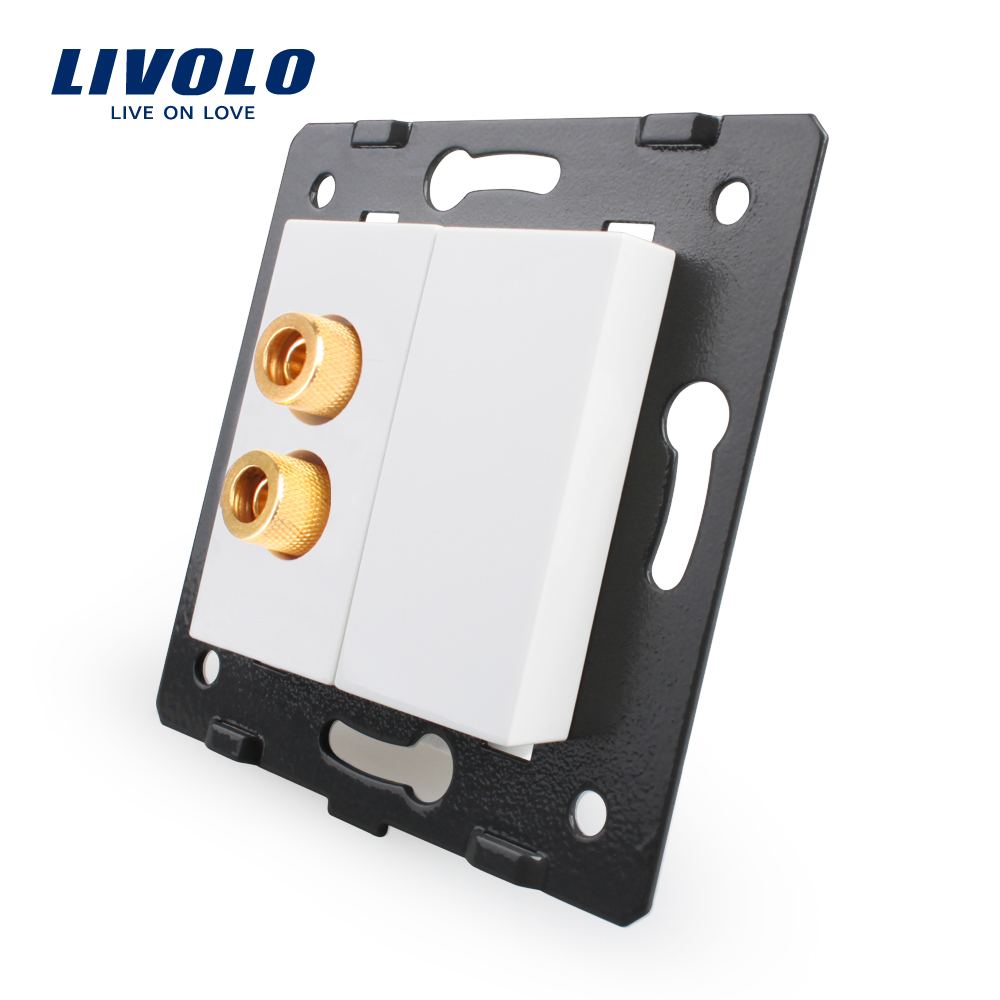 Free Shipping, Livolo White Plastic Materials, EU  Standard, Function Key For  Sound  Socket ,VL-C7-91A-11 (4 Colors)