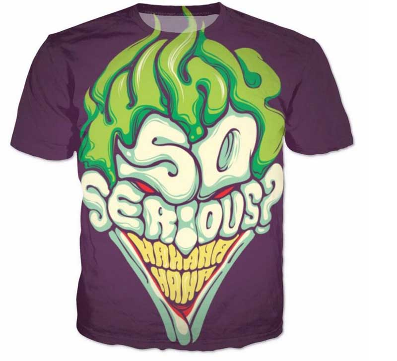DC Comics Joker Lines T-Shirt Uomo