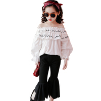 בנות אביב ילדים בייבי סטי 2018 חדש עיצוב האופנה Hot למעלה עבור לפרוע ילד בגדים מזדמנים צוואר עגול חולצות אבוקה מכנסיים 2 pc