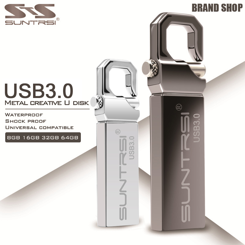 Suntrsi Metal USB 3.0 Flash Drive 64GB USB Memory Stick Waterproof 32GB 16GB 100% Original Suntrsi Custom Logo Free Shipping